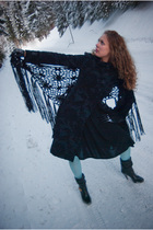 blue desigual coat - black River Island scarf - blue random from and underground
