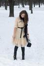 White-chloe-dress-black-river-island-scarf-black-only-leggings-black-purse