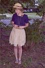 Blue-vintage-blouse-blue-bdg-belt-beige-american-eagle-skirt-blue-aldo-sho