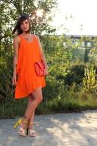 orange Zara dress