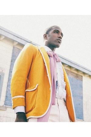 Zara blazer - emporio armani shirt - Burberry pants