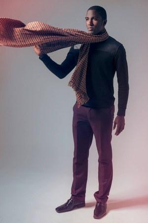 Zara shirt - Steve Madden shoes - H&M scarf - Zara pants