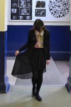 Love skirt - River Island shoes - Forever 21 jacket