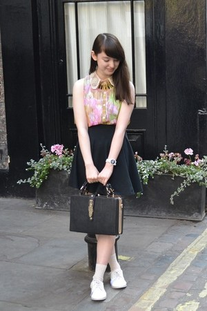 black dune bag - black Topshop skirt