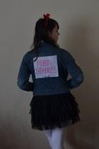 blue Therapy jacket - black Primark skirt
