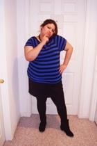 Walmart top - skirt - Dillards tights - Jcpennys boots
