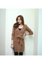 Spring warm cardigan BROWN SOFTY CARDIGAN by Spicy Avenue
