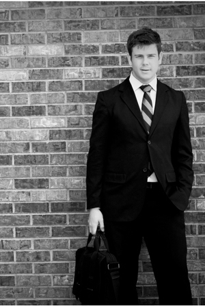 Perry Ellis suit - Burberry shirt - Hermes tie - Gap accessories
