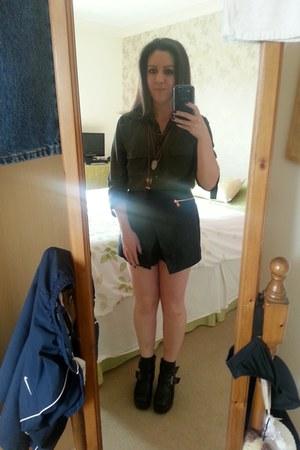 TK Maxx boots - new look shirt - River Island shorts - new look necklace