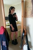 new look dress - new look coat - new look scarf - new look necklace