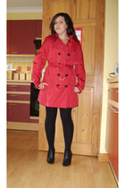 Burberry coat - new look tights - Debenhams shoes