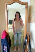 new look top - Miss Selfridge jeans - Primark flats
