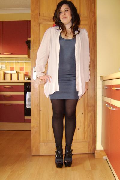 Miss Selfridge shirt - River Island dress - Primark tights - Carvela shoes