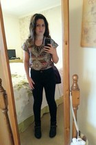 Primark t-shirt - new look boots - new look jeans - new look necklace