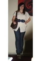 Topshop sweater - Topshop purse - Primark belt - Peacocks shoes