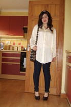 Topshop accessories - Primark shirt - handmade purse - new look leggings - new l