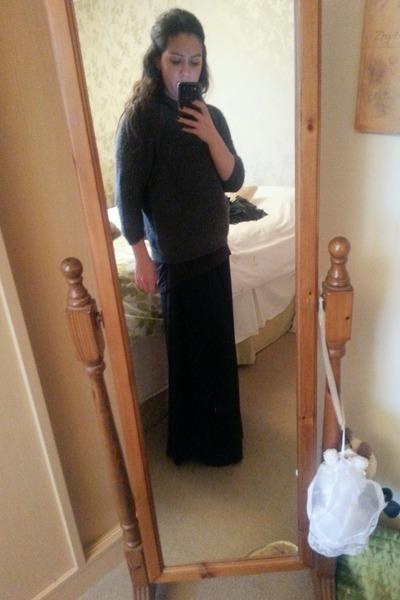 Blue Vanilla skirt - new look boots - Zara sweater - H&M top
