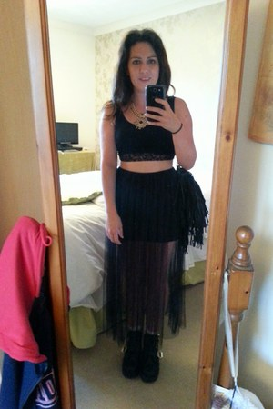 Band of Gypsies skirt - new look boots - Steve Madden bag - new look top