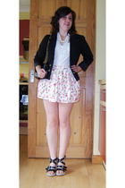 H&M blazer - George top - unknown brand necklace - Topshop skirt - French Connec