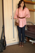 ben sherman shirt - H&M belt - new look purse - new look bracelet - new look leg