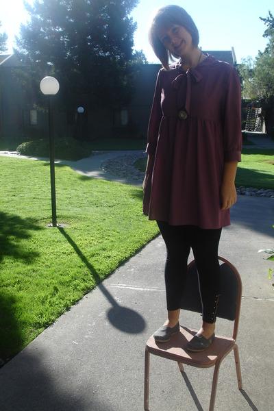 "Gray TOMS Shoes, Purple Dresses, Black Leggings | ""sunday ..."