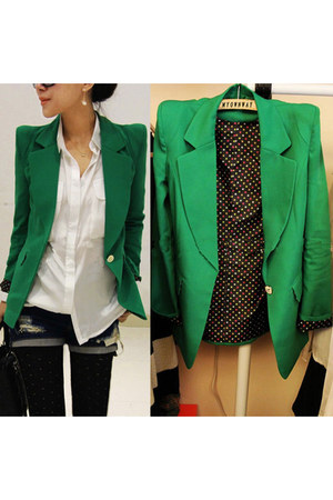green blazer