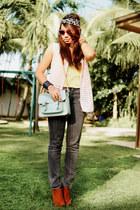 aquamarine mint satchel bazaar find bag - tawny Forever 21 shoes