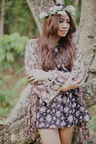 vintage floral dress - vintage floral cardigan