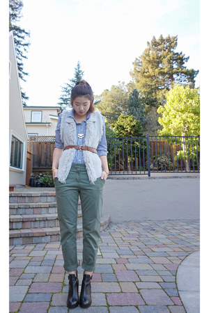 Gap shirt - ASH boots - banana republic vest - Gap pants