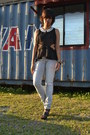 Heather-gray-freego-jeans-black-cut-out-peplum-february-love-top