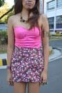 Bubble-gum-bustier-dv-top-hot-pink-landmark-skirt