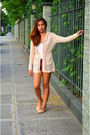 Maroon-zara-shorts-nude-knitted-freeway-cardigan-white-cotton-madonna-top
