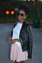 bella  canvas top - light pink OASAP skirt