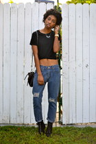 OASAP jeans - black H&M shirt