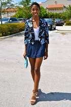 black Forever 21 blazer - light blue OASAP bag