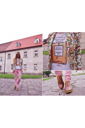 green reserved jacket - bubble gum Zara pants