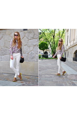 white Lee pants