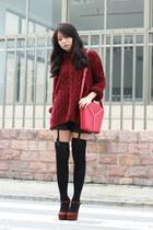 Zara sweater - YSL bag