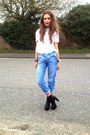 Black-schuh-boots-navy-river-island-jeans-white-white-topshop-shirt