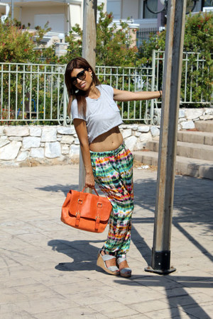 Zara pants - H&M bag - Zara top - Pull and Bear wedges