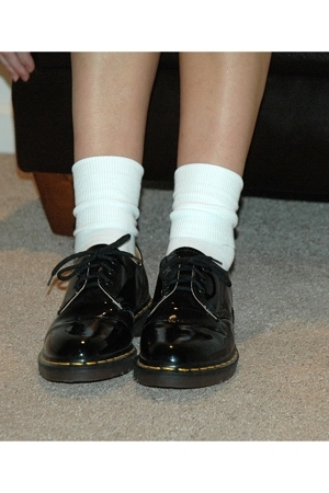 Dr Martens shoes - gold toe socks
