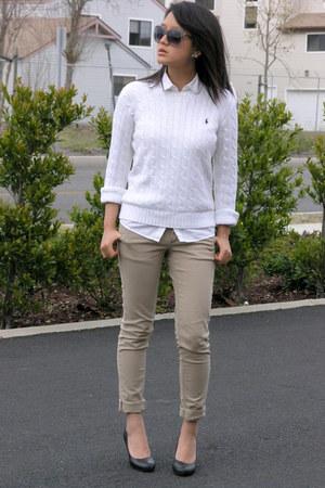Ralph Lauren sweater - Gap blouse - Love Culture pants - Lesa Michelle bracelet