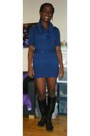 blue Forever 21 dress - black Thom Brown boots