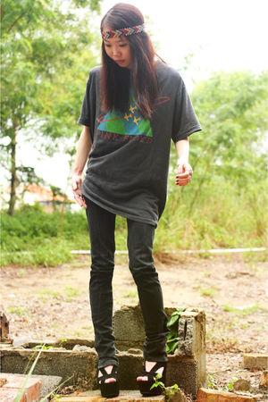 Jeffrey Campbell shoes - Ksubi jeans - vintage t-shirt