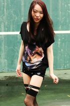 Something else by Natalie Wood t-shirt - Topshop shorts - black illex kinni shoe