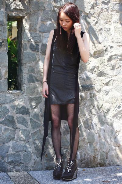 black Black Milk Clothing top - black Jeffrey Campbell shoes