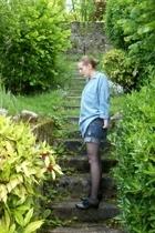 Zara shirt - Zara shorts - H&M tights - ASH shoes