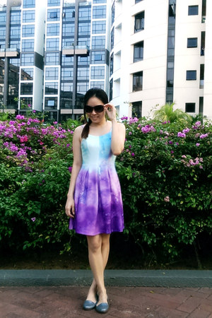 periwinkle Melissa shoes - light purple Flauntcc dress