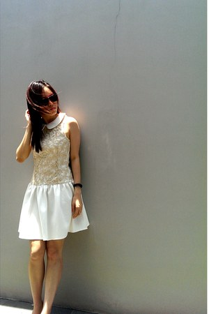 ivory lace and silk apartment8 dress