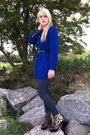 Blue-thrifted-blazer-love-label-leggings-runway-next-boots